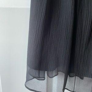 J. Crew Emily black strapless silk chiffon dress 2